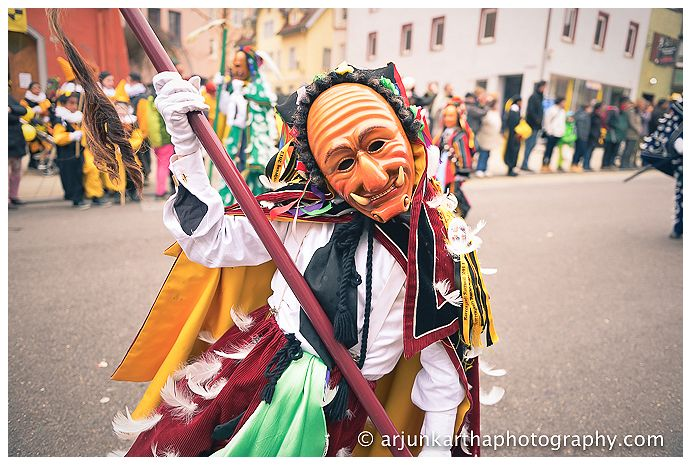 One of the carnival characters, maybe the Federahannes - but I could be wrong!