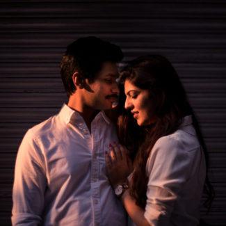 Chandni Chowk street pre-wedding couple shoot