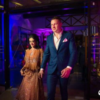 Wedding photography couple photo sangeet night Mussoorie
