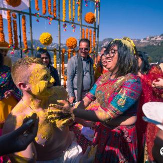 Wedding photography groom haldi Mussoorie