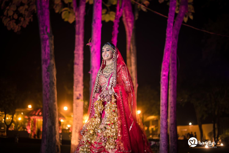 Hindu bridal portrait wedding photography