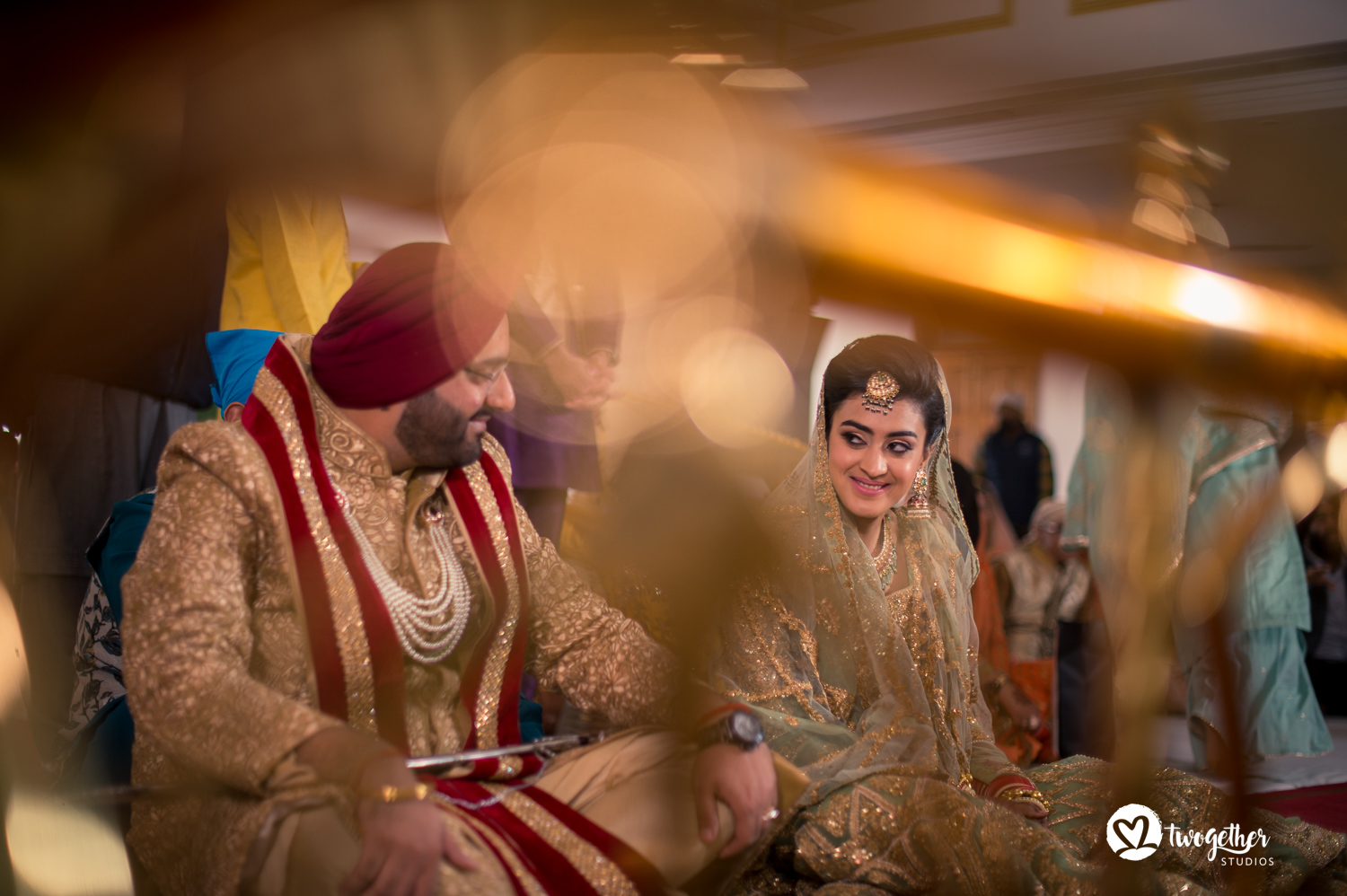 Sikh Indian wedding photography bride and groom