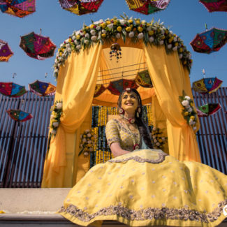 Haldi Bridal portrait wedding photography