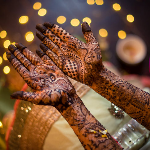 Indian wedding photography bridal mehendi photo