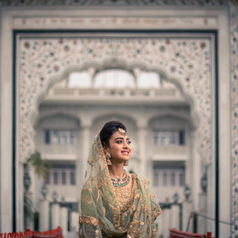 Wedding photography bridal portrait Sikh wedding