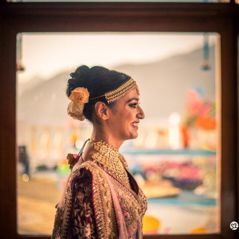Mussoorie destination wedding bridal portrait Indian wedding photography