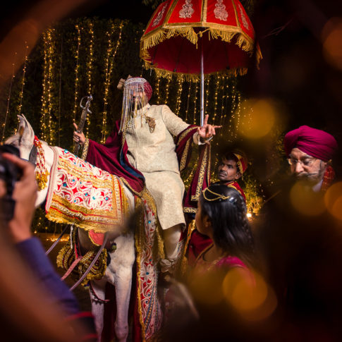 Indian wedding photography groom baraat
