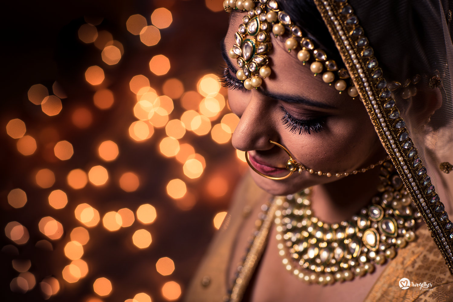 Indian wedding bridal portrait
