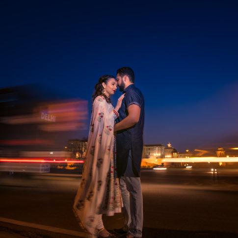 Street pre-wedding couple shoot Delhi