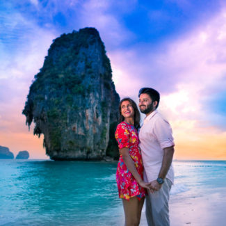 Krabi beach pre-wedding couple shoot photography