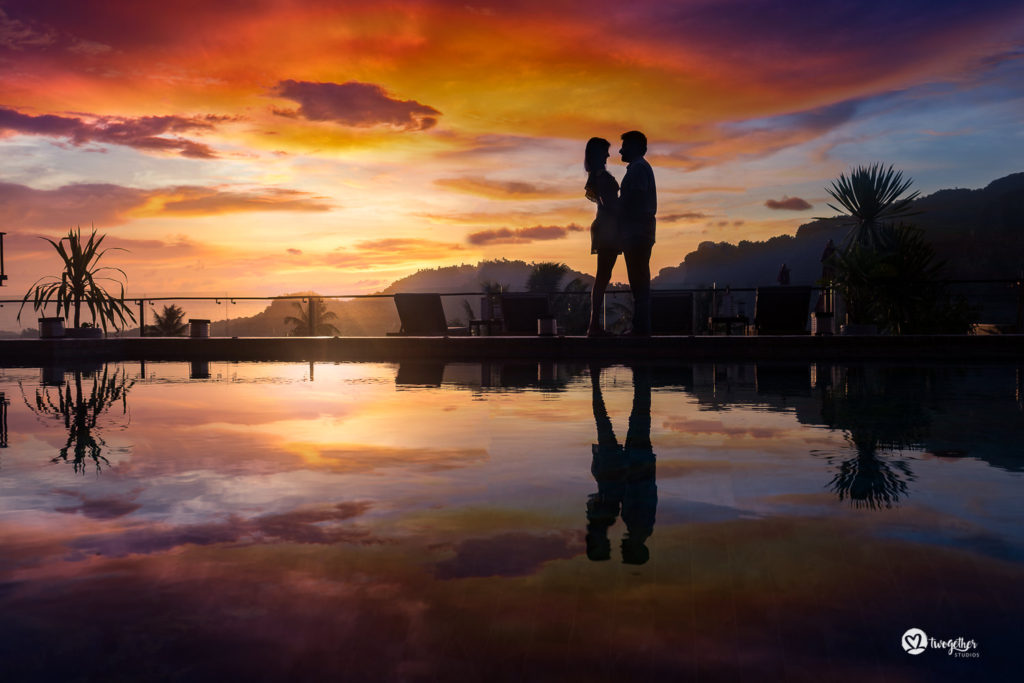 Krabi pre-wedding sunset couple shoot silhouette photography