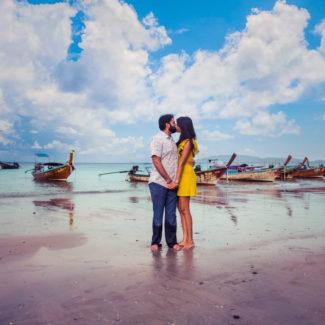 Railay beach pre-wedding couple shoot Krabi